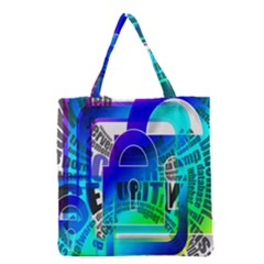 Security Castle Sure Padlock Grocery Tote Bag