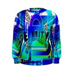 Security Castle Sure Padlock Women s Sweatshirt