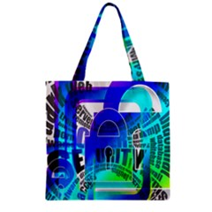 Security Castle Sure Padlock Zipper Grocery Tote Bag