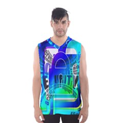 Security Castle Sure Padlock Men s Basketball Tank Top