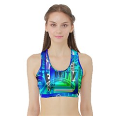 Security Castle Sure Padlock Sports Bra With Border