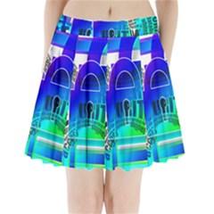 Security Castle Sure Padlock Pleated Mini Skirt