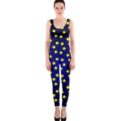 Star Christmas Yellow OnePiece Catsuit