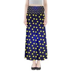 Star Christmas Yellow Maxi Skirts