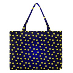 Star Christmas Yellow Medium Tote Bag