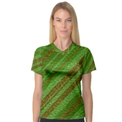 Stripes Course Texture Background Women s V-Neck Sport Mesh Tee