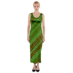 Stripes Course Texture Background Fitted Maxi Dress