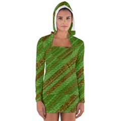 Stripes Course Texture Background Women s Long Sleeve Hooded T Shirt