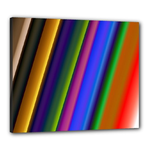 Strip Colorful Pipes Books Color Canvas 24  x 20