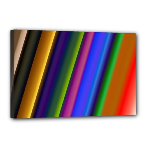 Strip Colorful Pipes Books Color Canvas 18  x 12