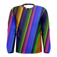Strip Colorful Pipes Books Color Men s Long Sleeve Tee
