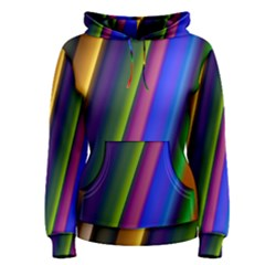 Strip Colorful Pipes Books Color Women s Pullover Hoodie
