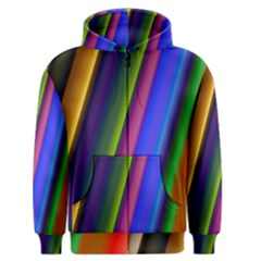 Strip Colorful Pipes Books Color Men s Zipper Hoodie