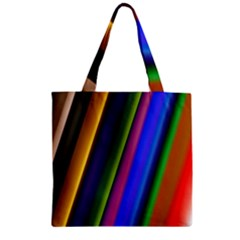Strip Colorful Pipes Books Color Zipper Grocery Tote Bag
