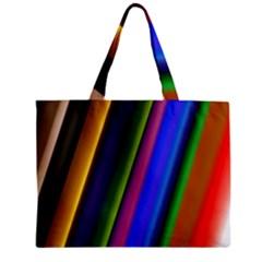 Strip Colorful Pipes Books Color Zipper Mini Tote Bag