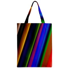 Strip Colorful Pipes Books Color Zipper Classic Tote Bag