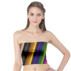 Strip Colorful Pipes Books Color Tube Top