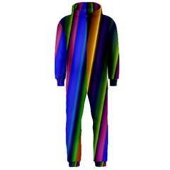 Strip Colorful Pipes Books Color Hooded Jumpsuit (men)