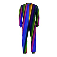 Strip Colorful Pipes Books Color Onepiece Jumpsuit (kids)