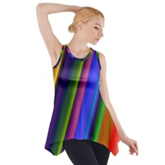Strip Colorful Pipes Books Color Side Drop Tank Tunic