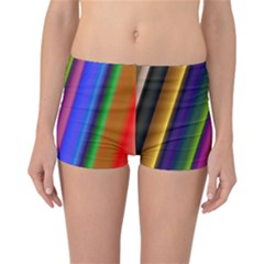 Strip Colorful Pipes Books Color Reversible Bikini Bottoms