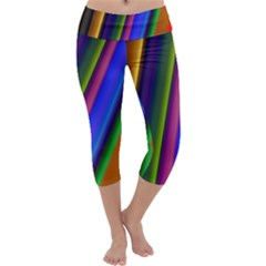 Strip Colorful Pipes Books Color Capri Yoga Leggings