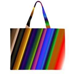 Strip Colorful Pipes Books Color Large Tote Bag