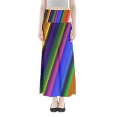 Strip Colorful Pipes Books Color Maxi Skirts