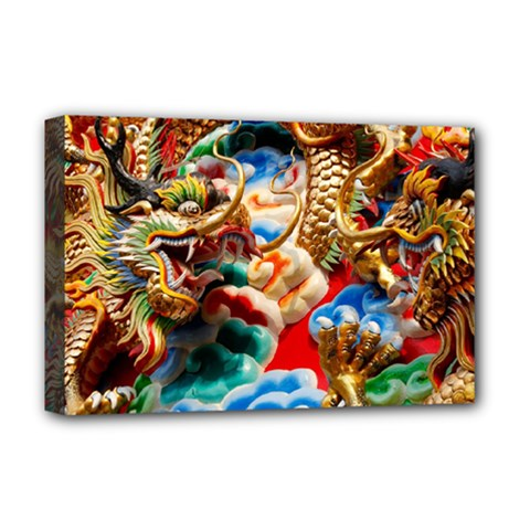 Thailand Bangkok Temple Roof Asia Deluxe Canvas 18  x 12