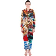 Thailand Bangkok Temple Roof Asia Hooded Jumpsuit (ladies)