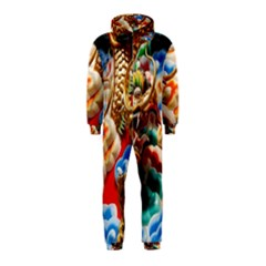 Thailand Bangkok Temple Roof Asia Hooded Jumpsuit (kids)