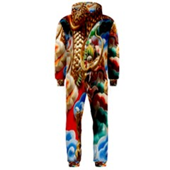 Thailand Bangkok Temple Roof Asia Hooded Jumpsuit (men)