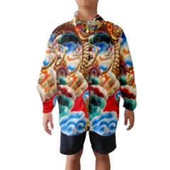 Thailand Bangkok Temple Roof Asia Wind Breaker (kids)