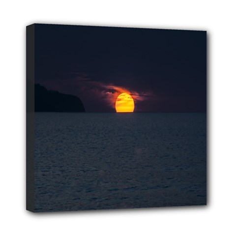 Sunset Ocean Azores Portugal Sol Mini Canvas 8  x 8