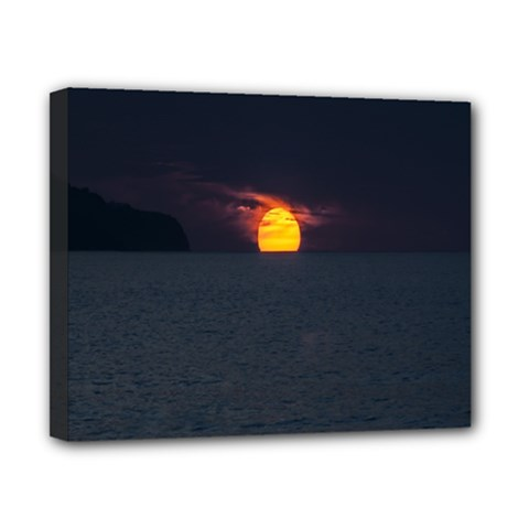 Sunset Ocean Azores Portugal Sol Canvas 10  x 8