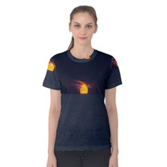 Sunset Ocean Azores Portugal Sol Women s Cotton Tee