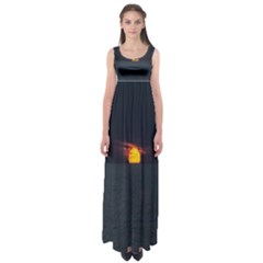 Sunset Ocean Azores Portugal Sol Empire Waist Maxi Dress