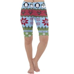 Ugly Christmas Xmas Cropped Leggings