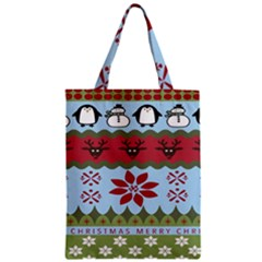 Ugly Christmas Xmas Zipper Classic Tote Bag