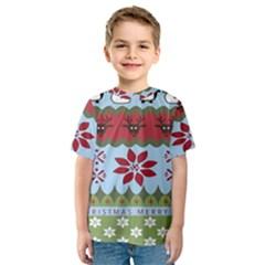 Ugly Christmas Xmas Kids  Sport Mesh Tee