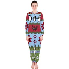 Ugly Christmas Xmas Onepiece Jumpsuit (ladies)