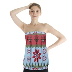 Ugly Christmas Xmas Strapless Top