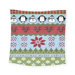 Ugly Christmas Xmas Square Tapestry (small)