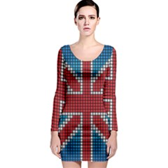 The Flag Of The Kingdom Of Great Britain Long Sleeve Bodycon Dress