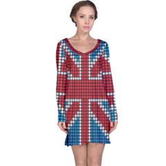 The Flag Of The Kingdom Of Great Britain Long Sleeve Nightdress