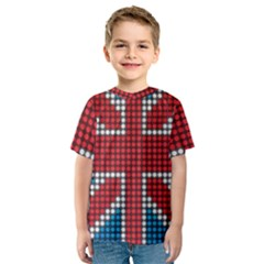 The Flag Of The Kingdom Of Great Britain Kids  Sport Mesh Tee