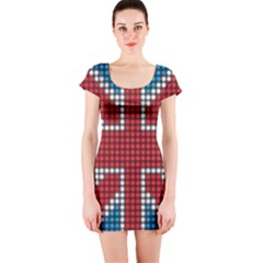The Flag Of The Kingdom Of Great Britain Short Sleeve Bodycon Dress