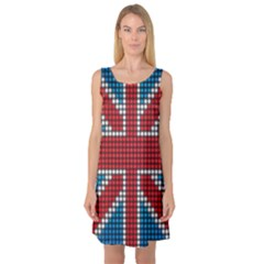 The Flag Of The Kingdom Of Great Britain Sleeveless Satin Nightdress