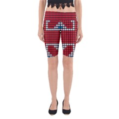 The Flag Of The Kingdom Of Great Britain Yoga Cropped Leggings