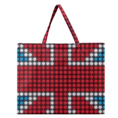 The Flag Of The Kingdom Of Great Britain Zipper Large Tote Bag
